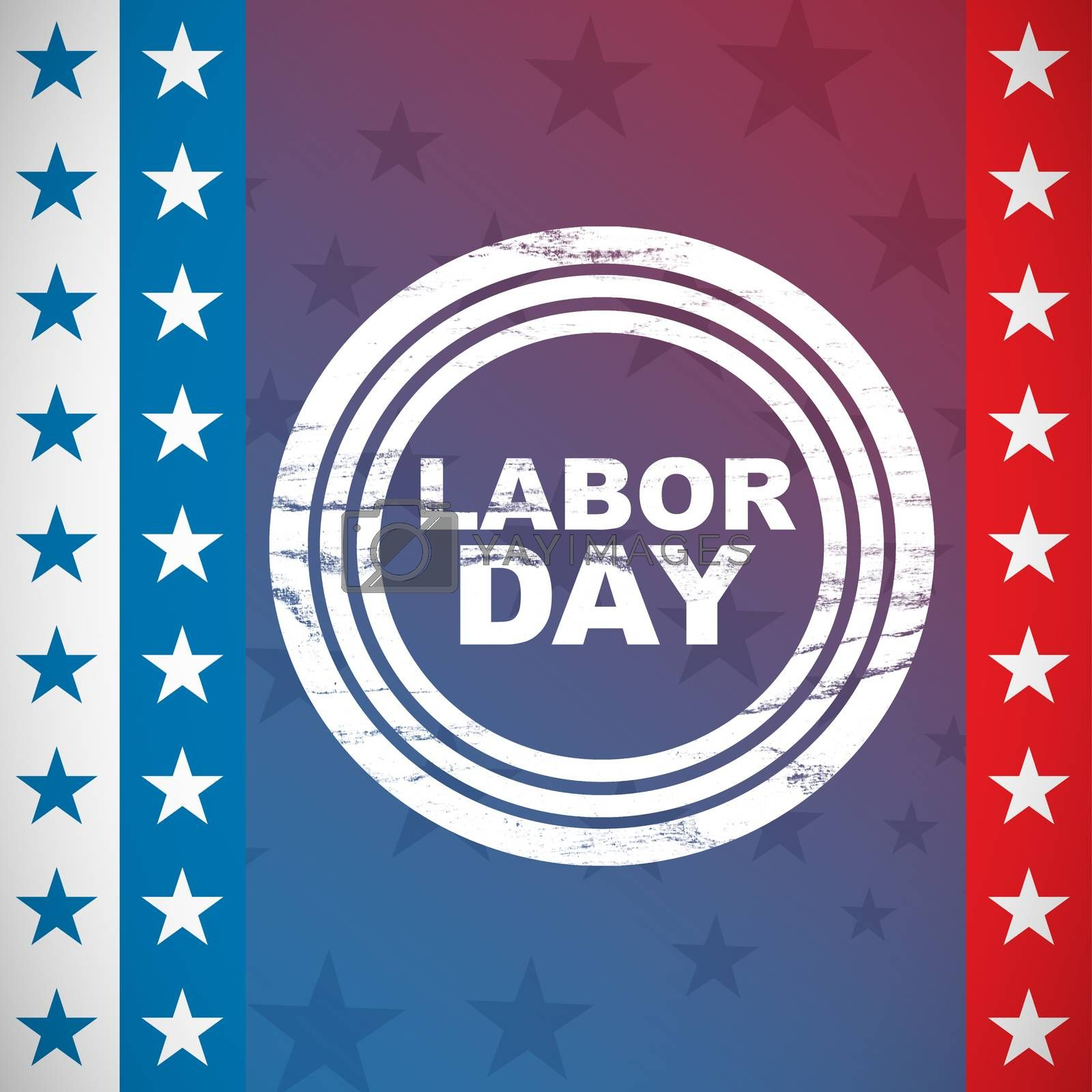 Composite image of labor day text in circles by Wavebreakmedia