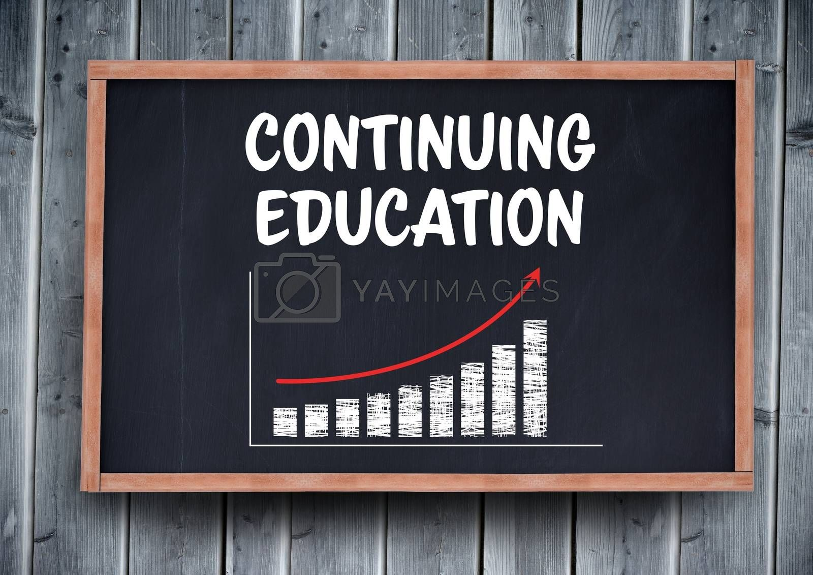 Digital composite of Continuing education on blackboard