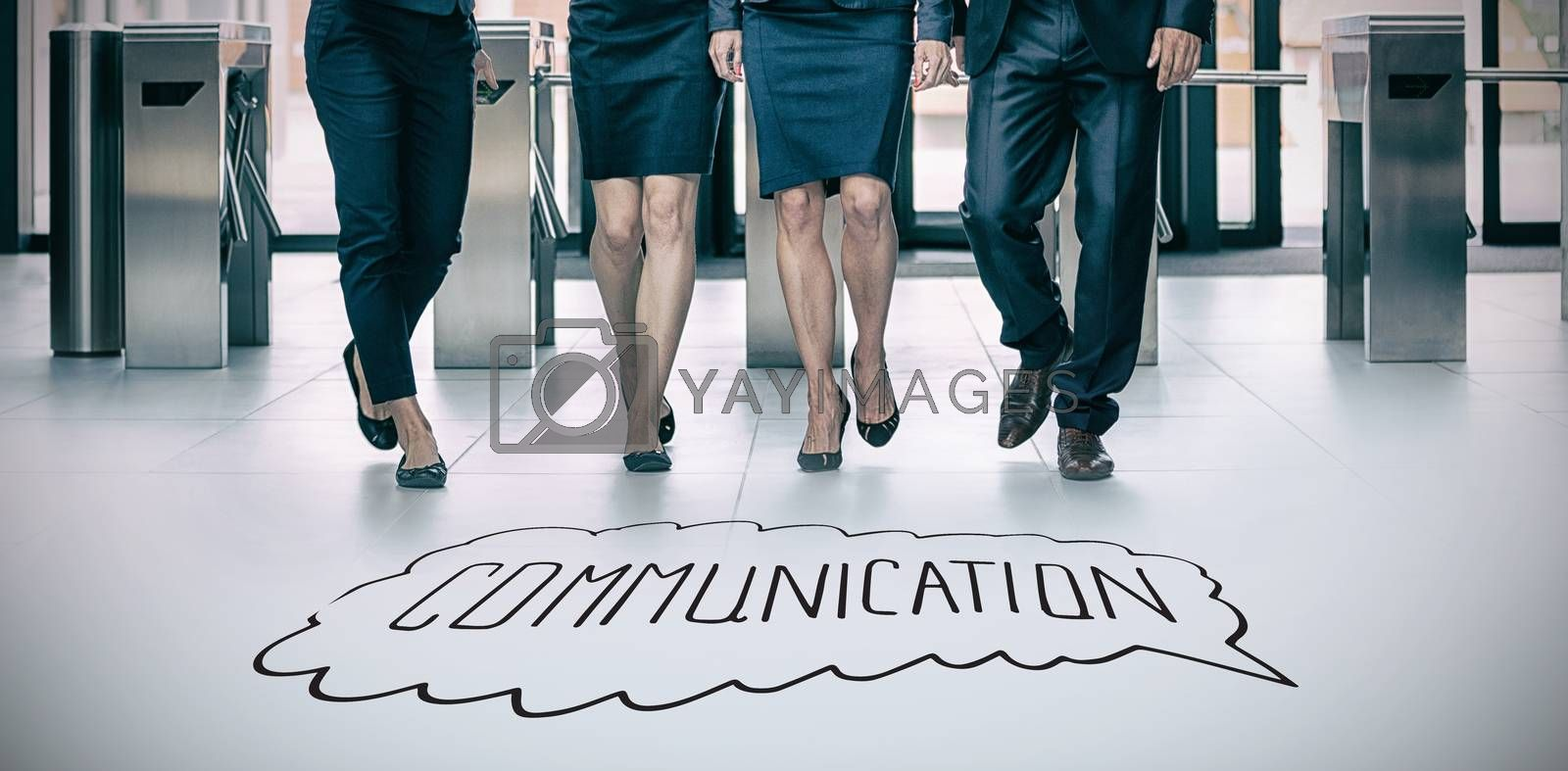 Composite image of handdrawn communication  by Wavebreakmedia