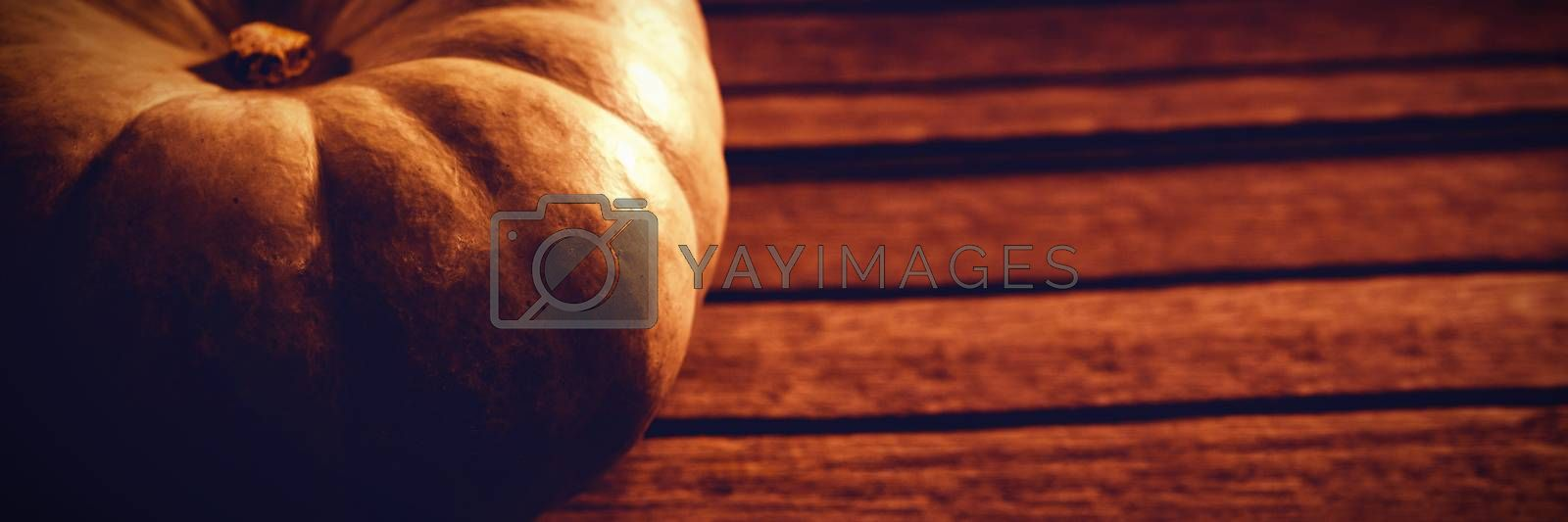 High angle view of white pumpkin on table during Halloween