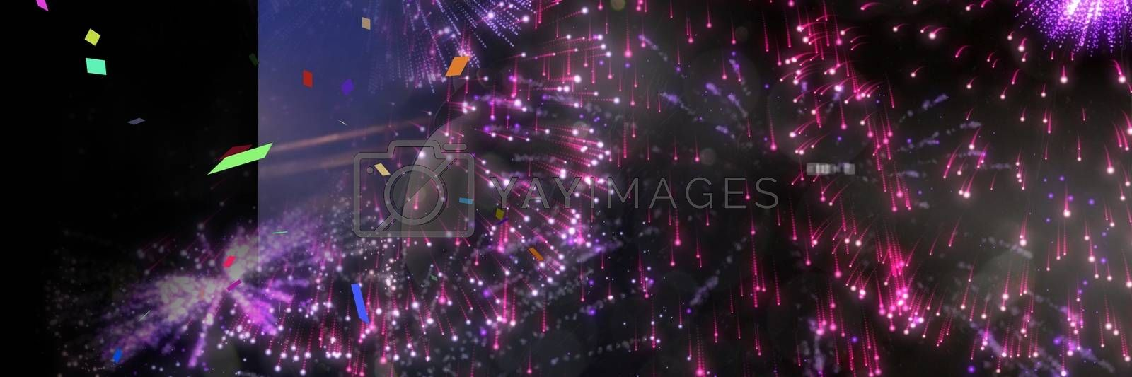 Digital composite of people at concert with transition