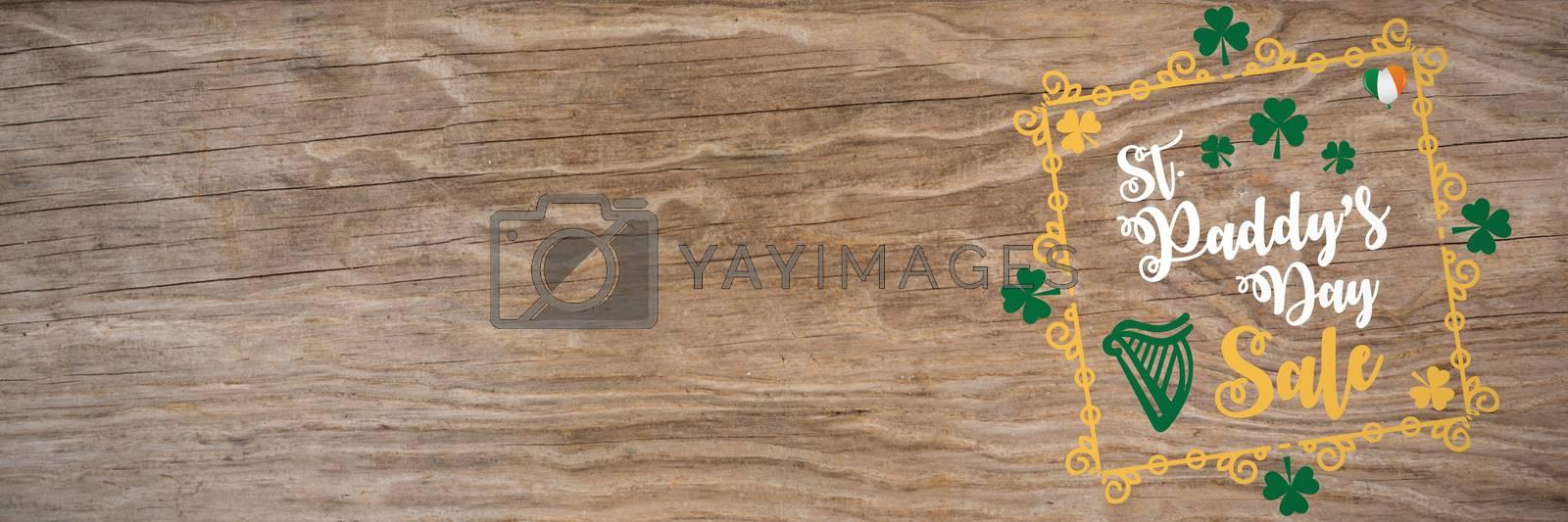 Digital composite of St Patricks Day Greeting