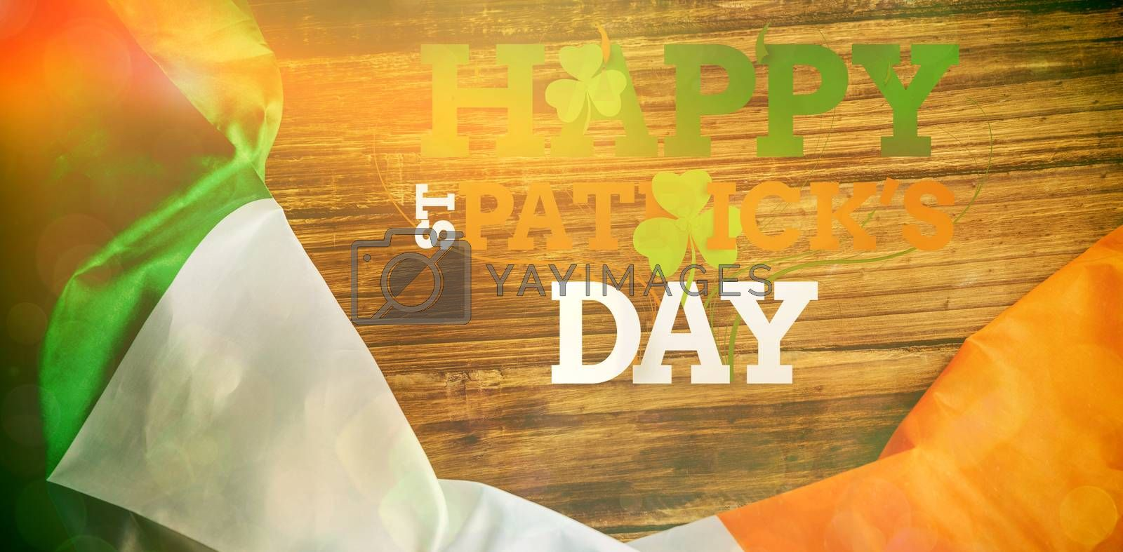 St patricks day greeting on wooden background