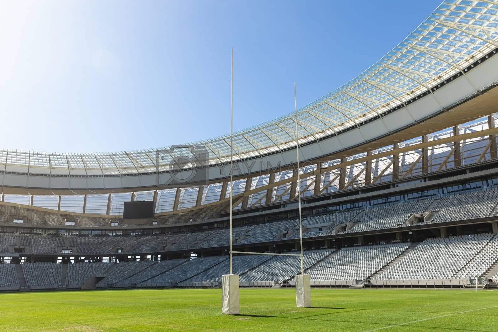 Rugby stadium on a sunny day by Wavebreakmedia
