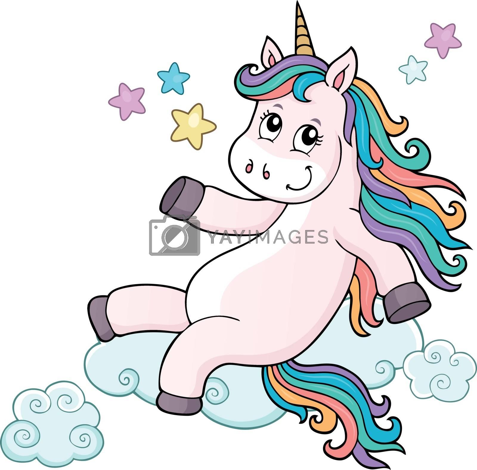 Cute unicorn topic image 7 - eps10 vector illustration.