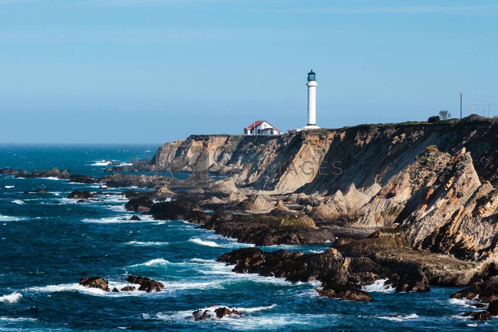 The lighthouse at Point Arena in Northern California.