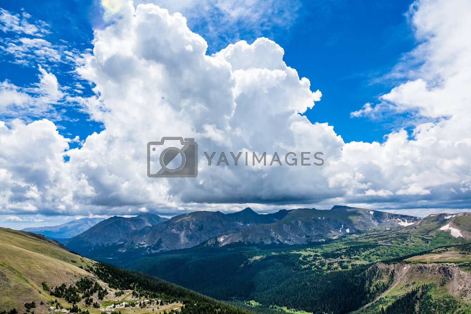 Dramatic Cloud Formations Over Colorado Rocky Mountain Peaks