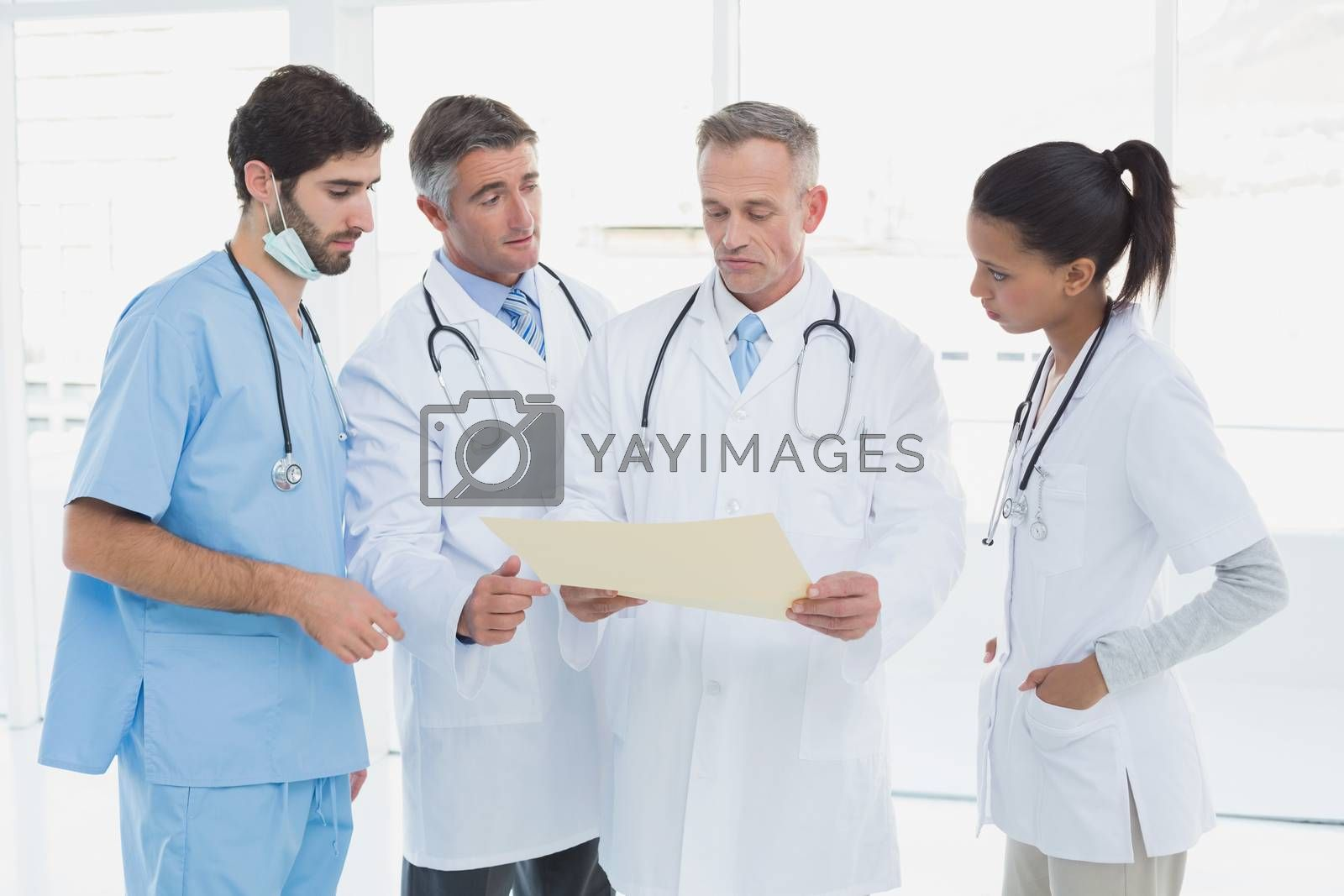 Medical team discussing some results in an office