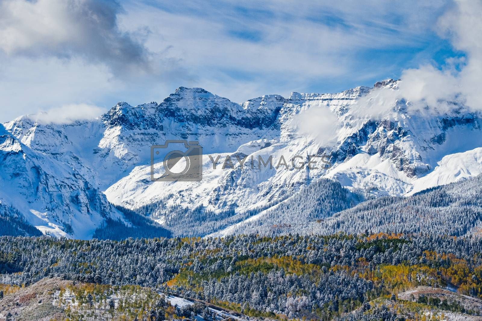 The San Juan Mountain Range - Autumn Scenery in the Beautiful Rocky Mountains of Colorado