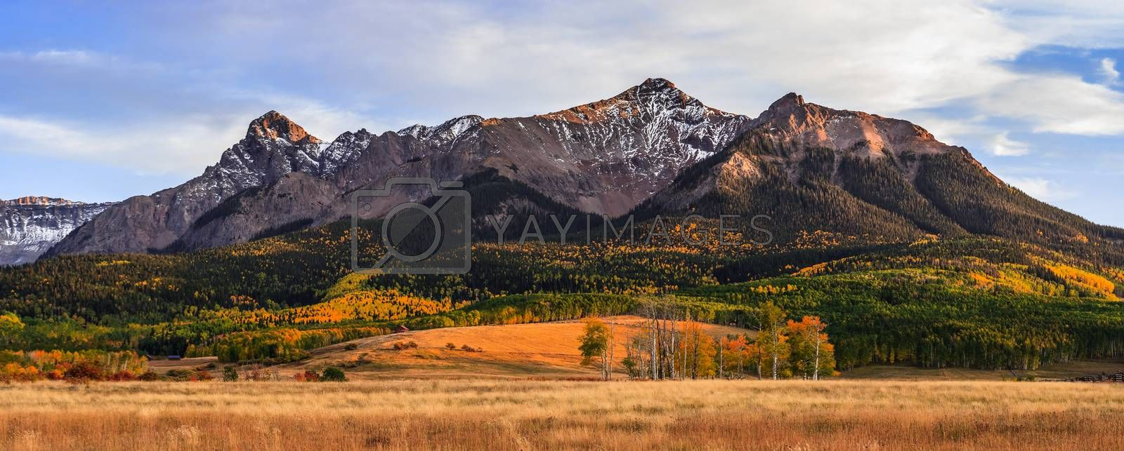 Colorado Autumn Scenic Beauty - The San Juan Mountains as Viewed from Last Dollar Road