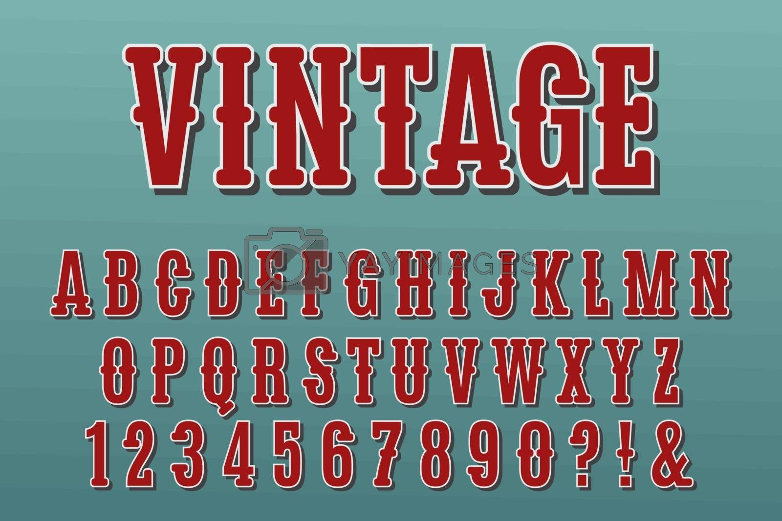 Royalty free image of Vintage 3D Alphabet Letters, Numbers and Symbols. Vector by balasoiu
