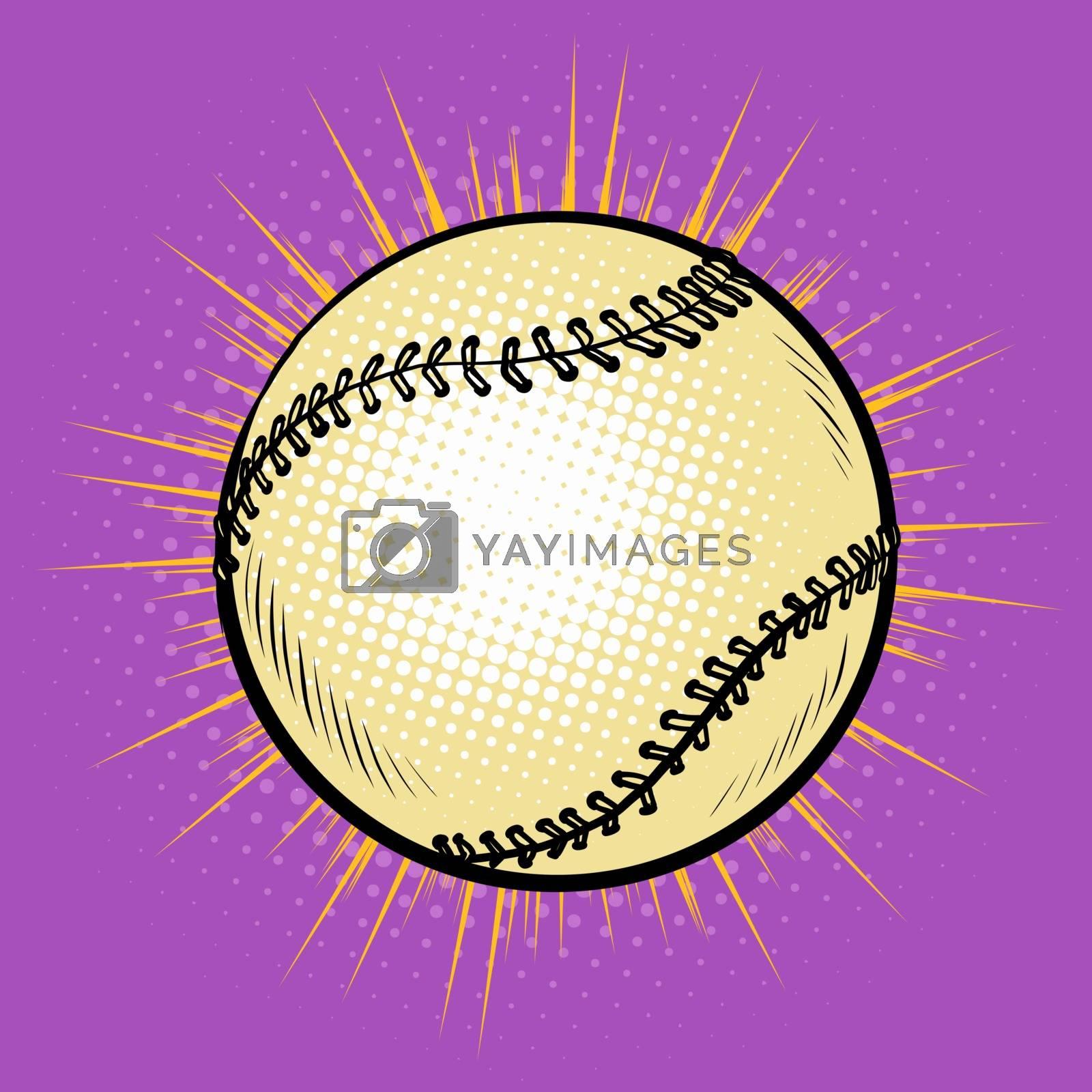 Baseball and tennis ball. Pop art retro vector illustration 50s 60s style