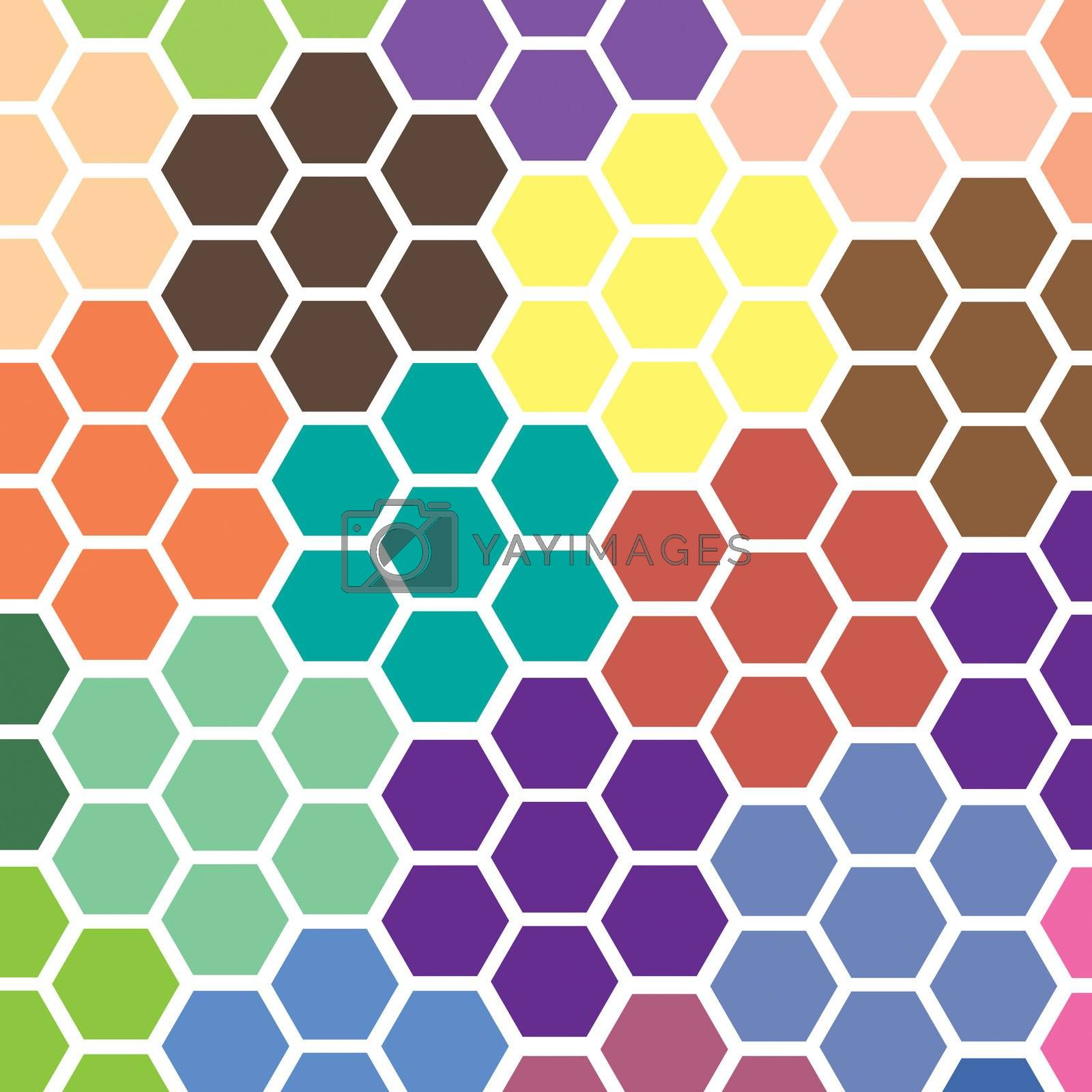 Abstract Hexagon Colorful Patterns Background