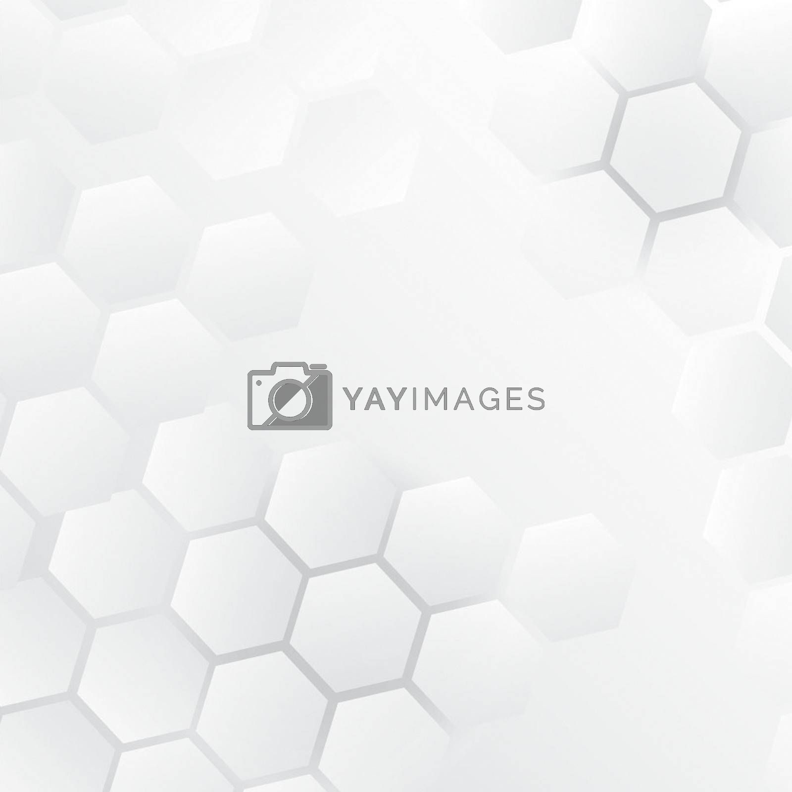 Geometric Hexagon White Background