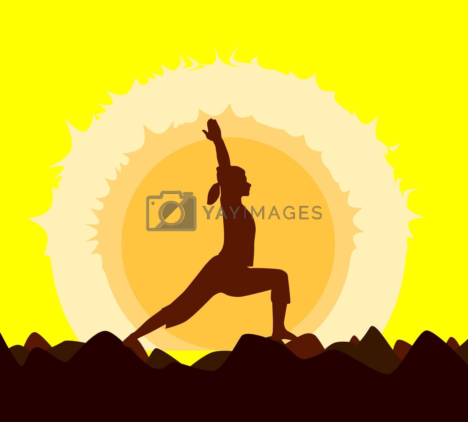 Yoga Sunset. by Bigalbaloo