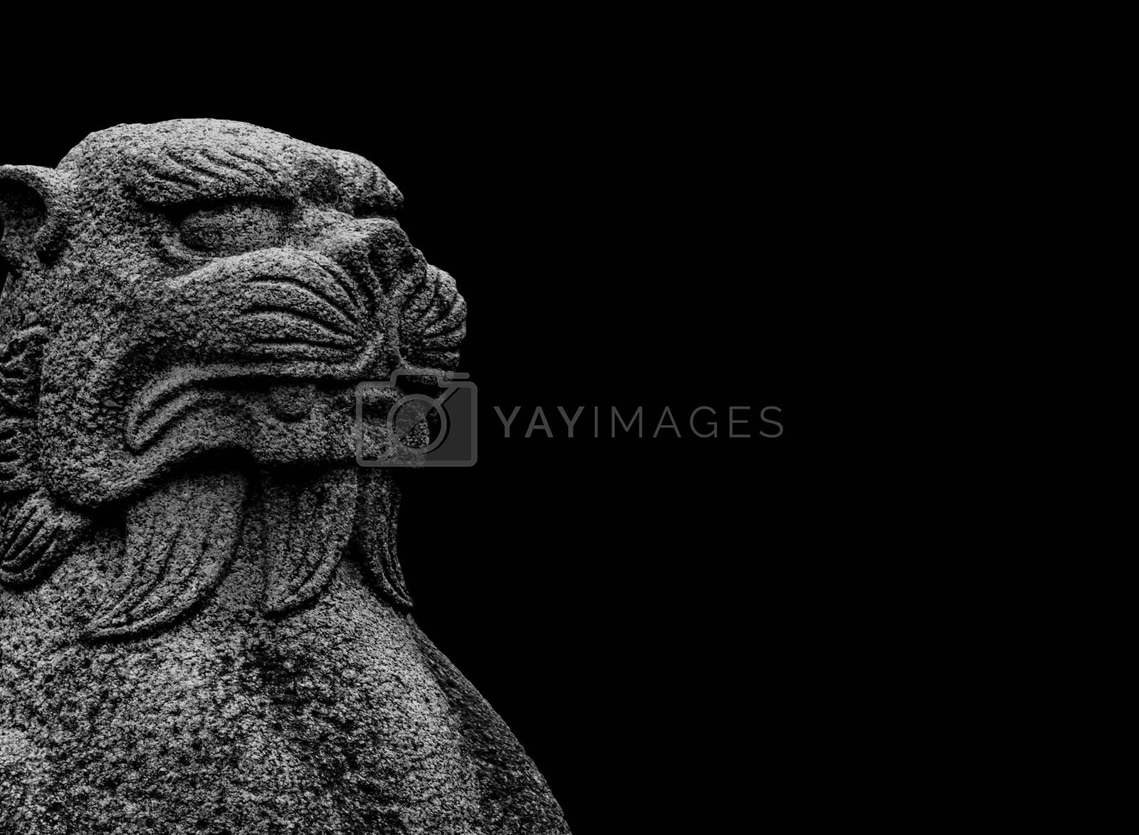 Royalty free image of Fantasy Animal Sculpture Creepy Background by DanFLCreative