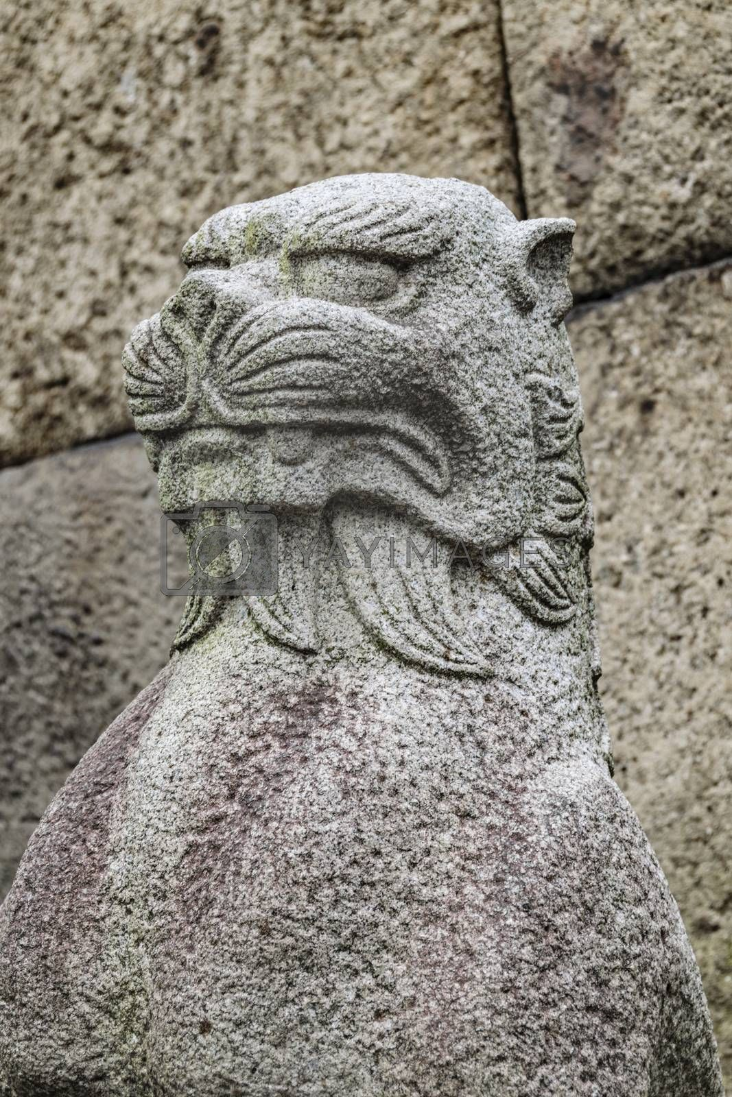 Royalty free image of Japanese Mythological Animal Sculpture, Tokyo Japan by DanFLCreative