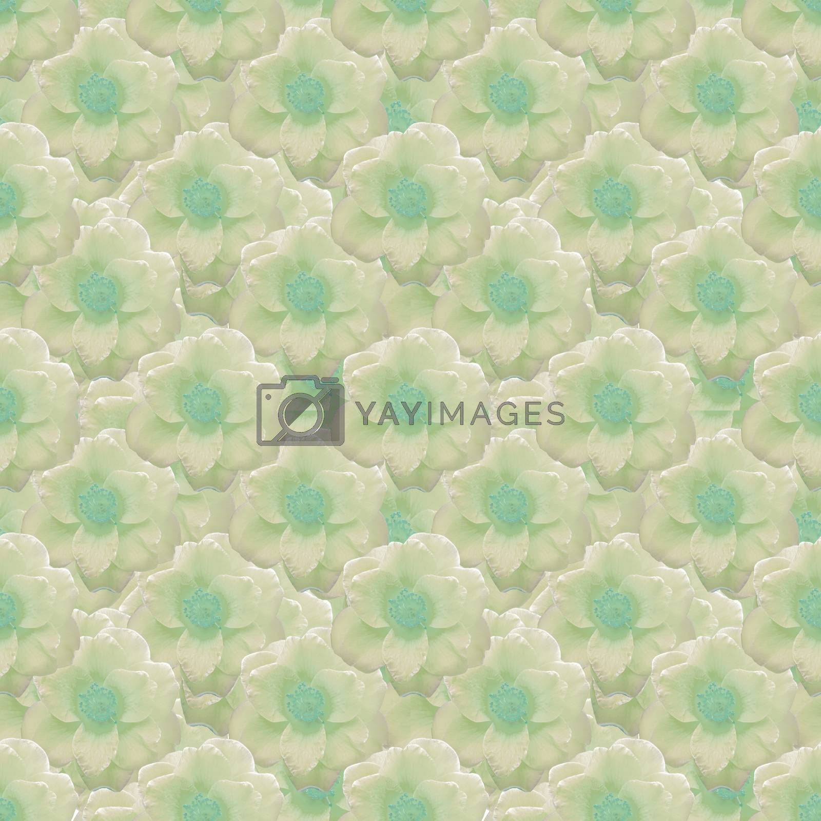 Royalty free image of Pale Colors Stylized Flowers Motif Seamless Pattern by DanFLCreative