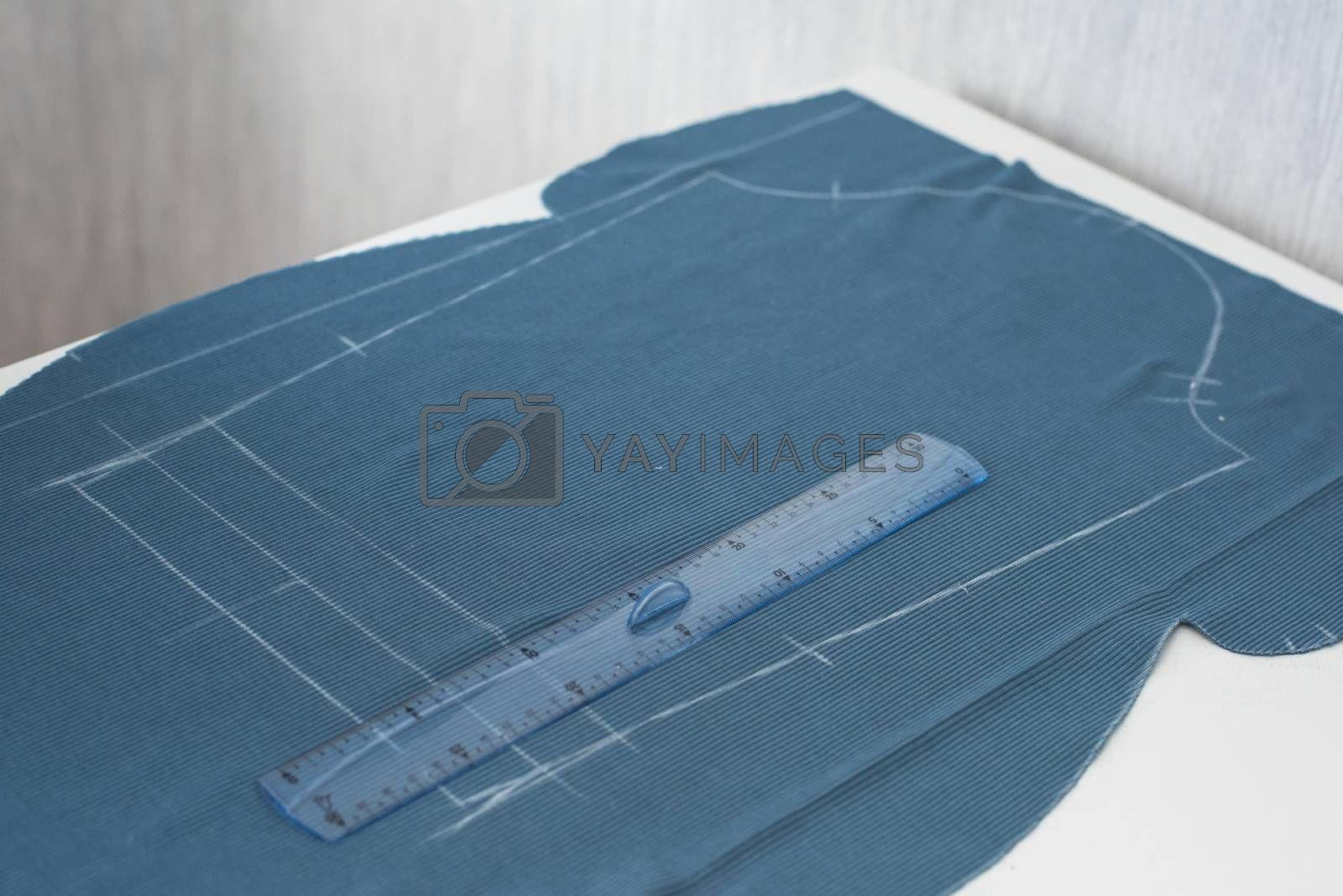 Fabric on the table, homemade dressing concept