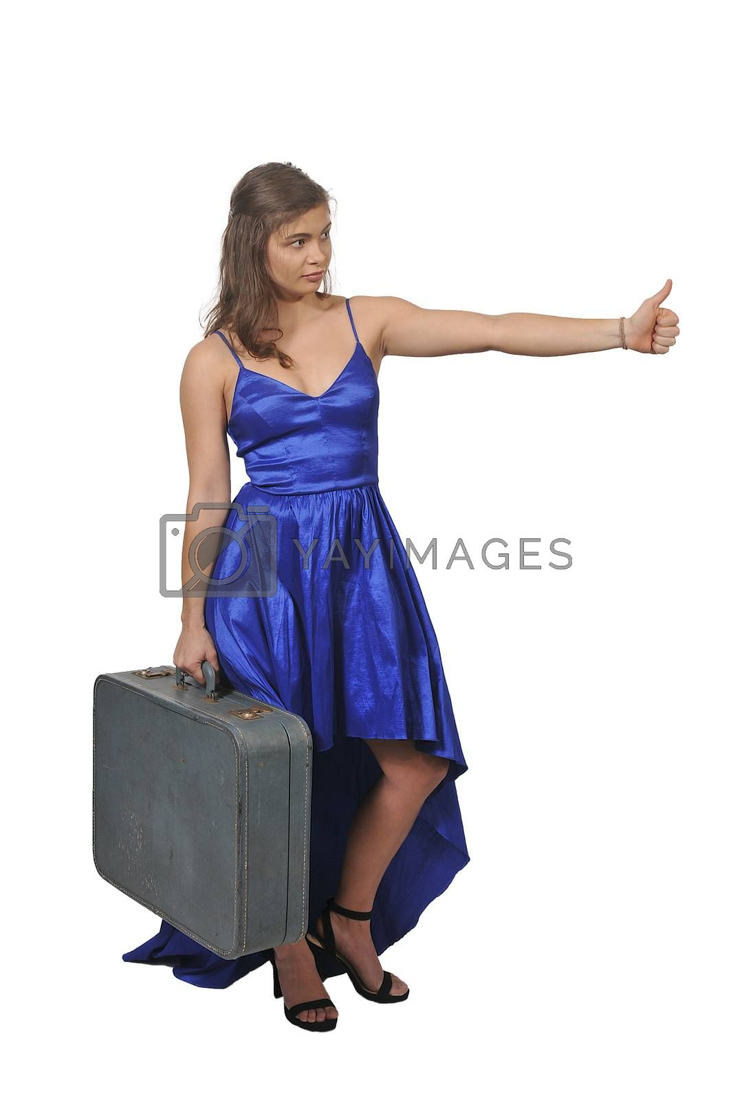 Woman on or going on vacation by robeo