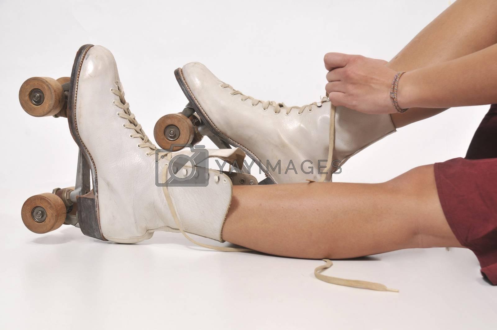 Woman On RollerSkates by robeo