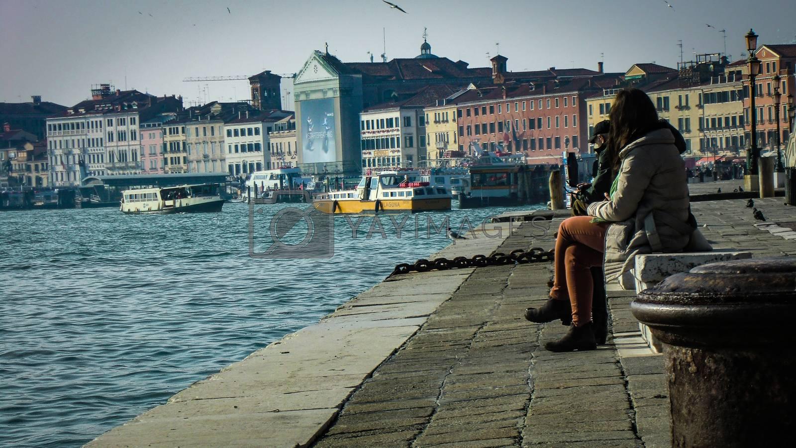 VENICE,ITALY 26 FEBRUARY 2020: Cityscape of Venice