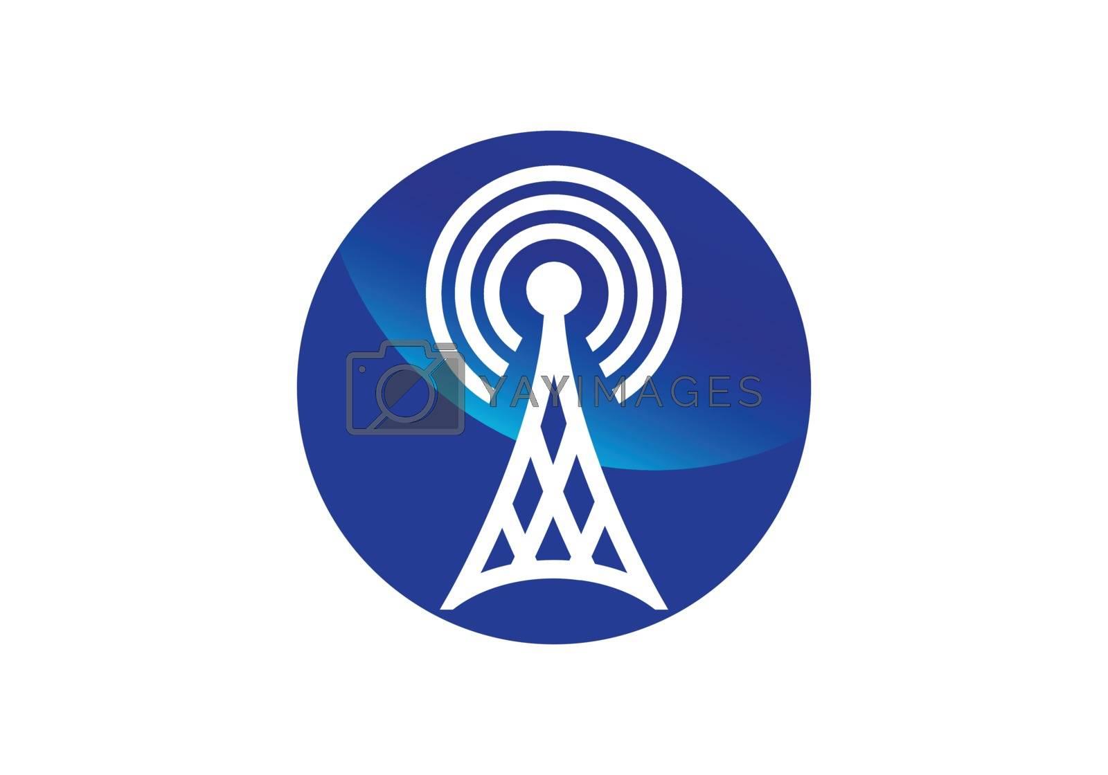 WiFi symbol. Wireless internet connection or hotspot sign. Outline modern design element.
