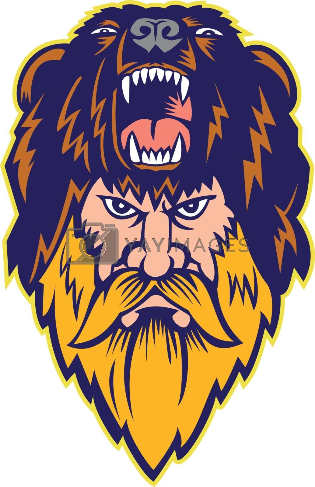 Berserker Wearing Bear Head Skin Mascot by patrimonio
