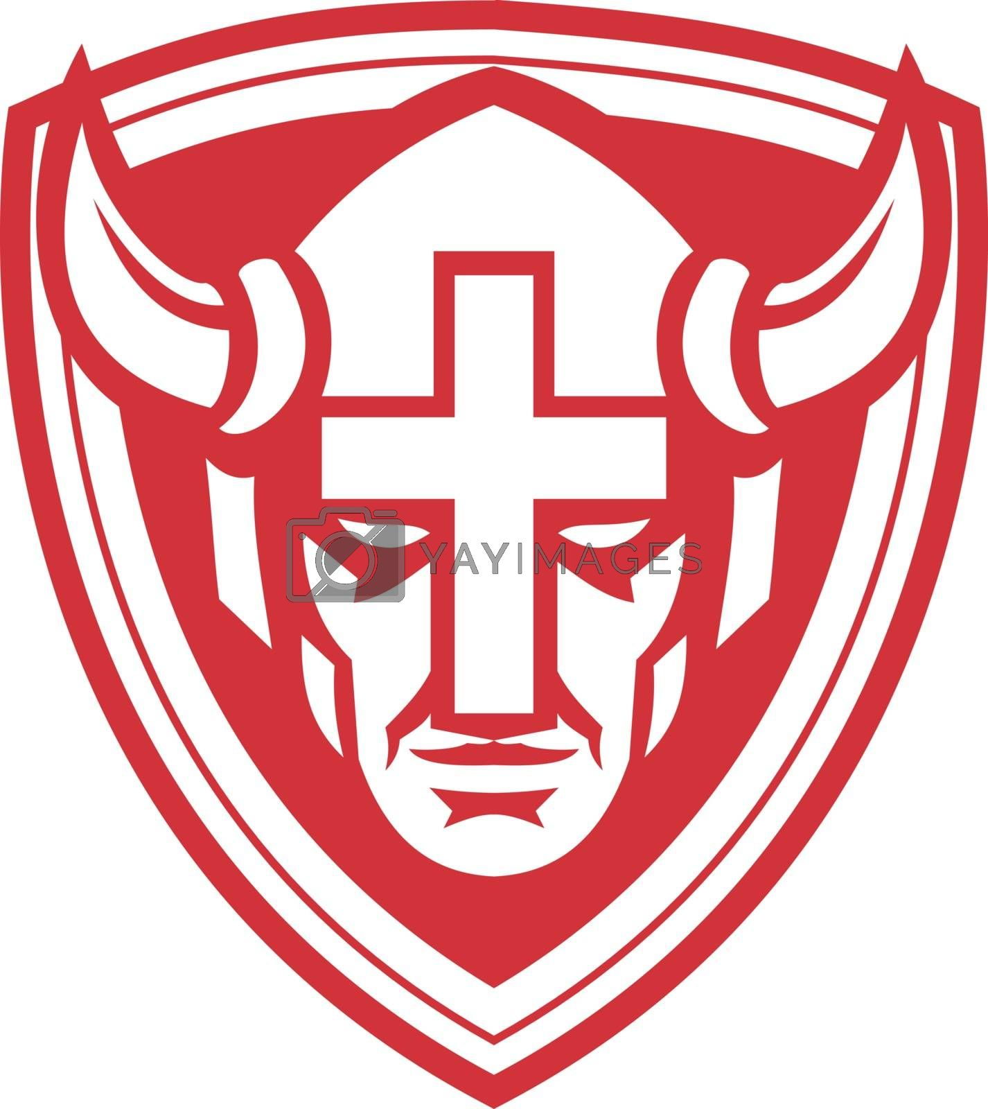 Christian Viking Shield Mascot by patrimonio