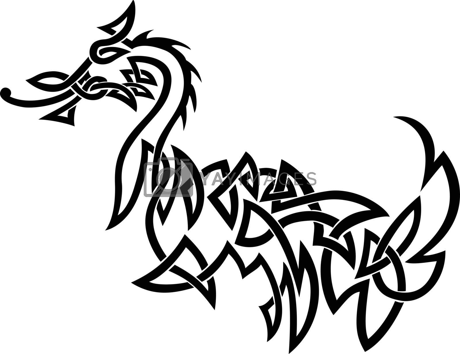 Dragon Celtic Knot by patrimonio