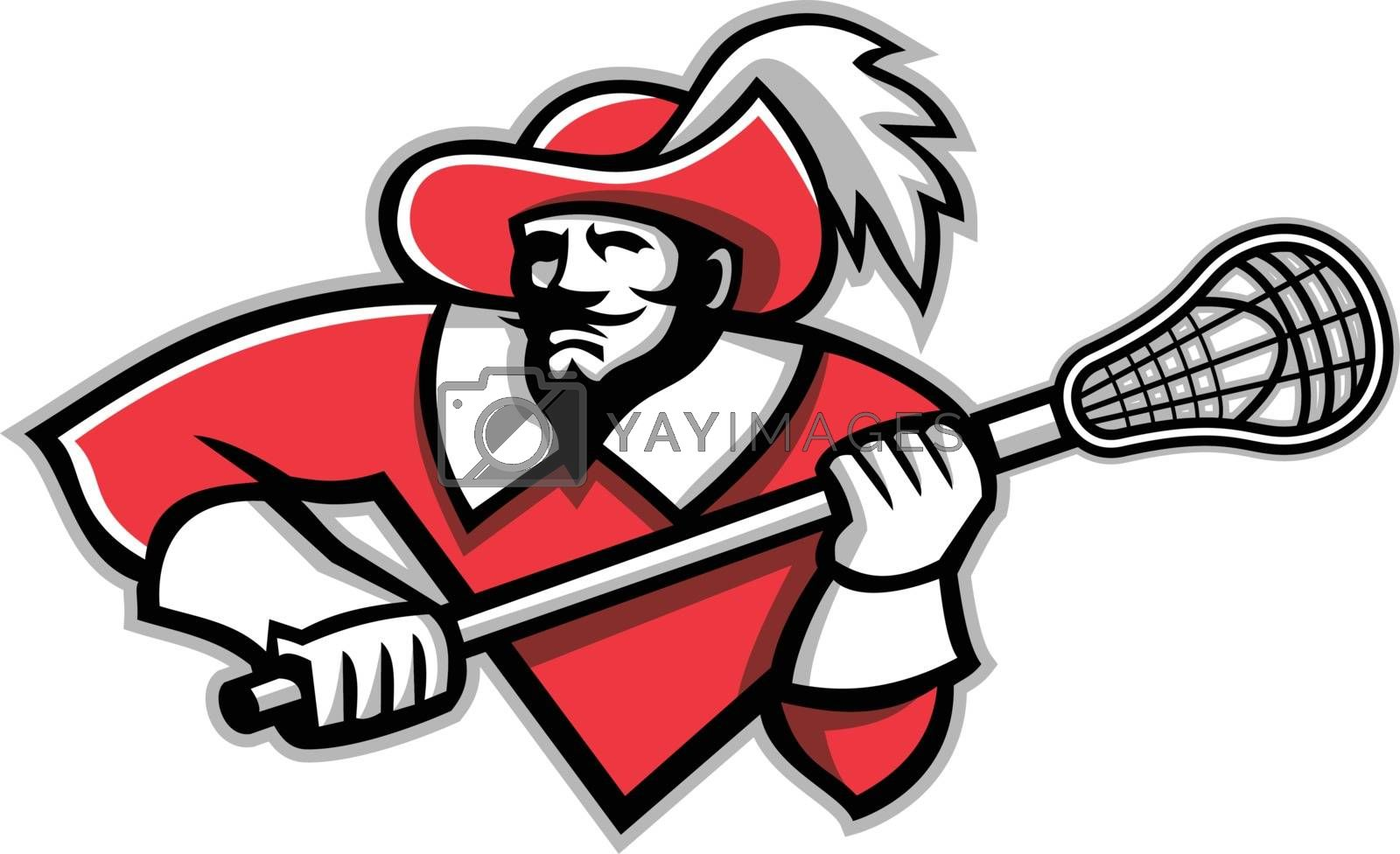 Musketeer Lacrosse Mascot by patrimonio