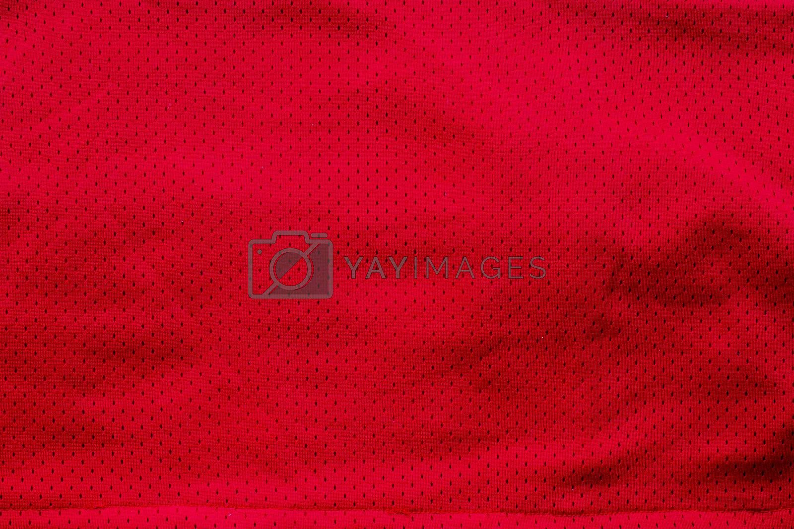 Red American Jersey textured