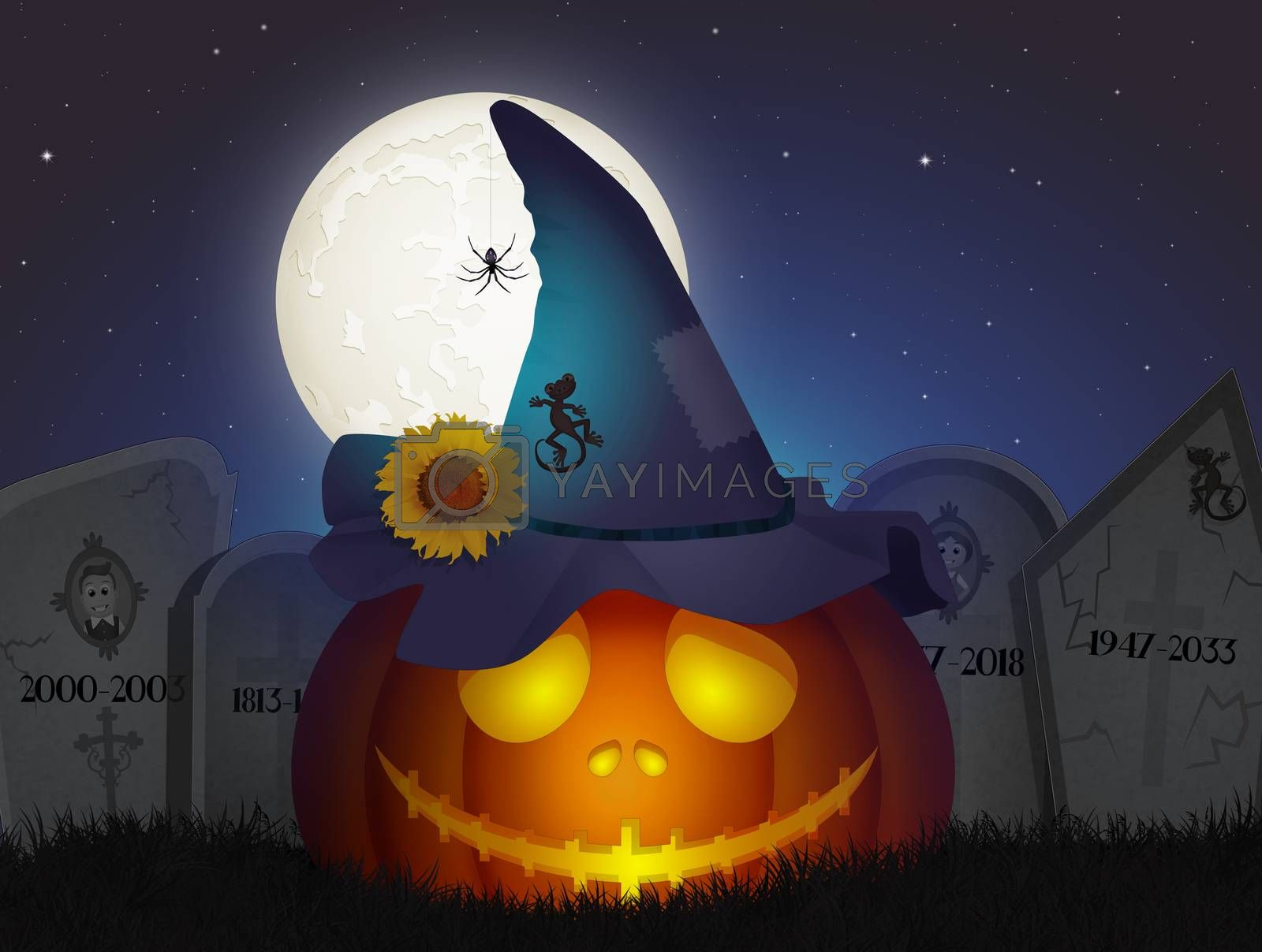 illustration of Halloween pumpkin