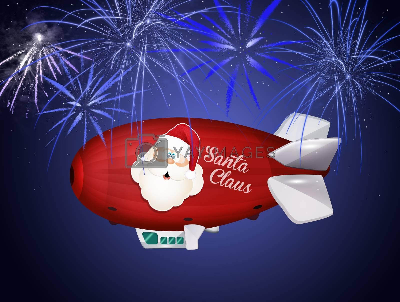 airship of Santa Claus by adrenalina