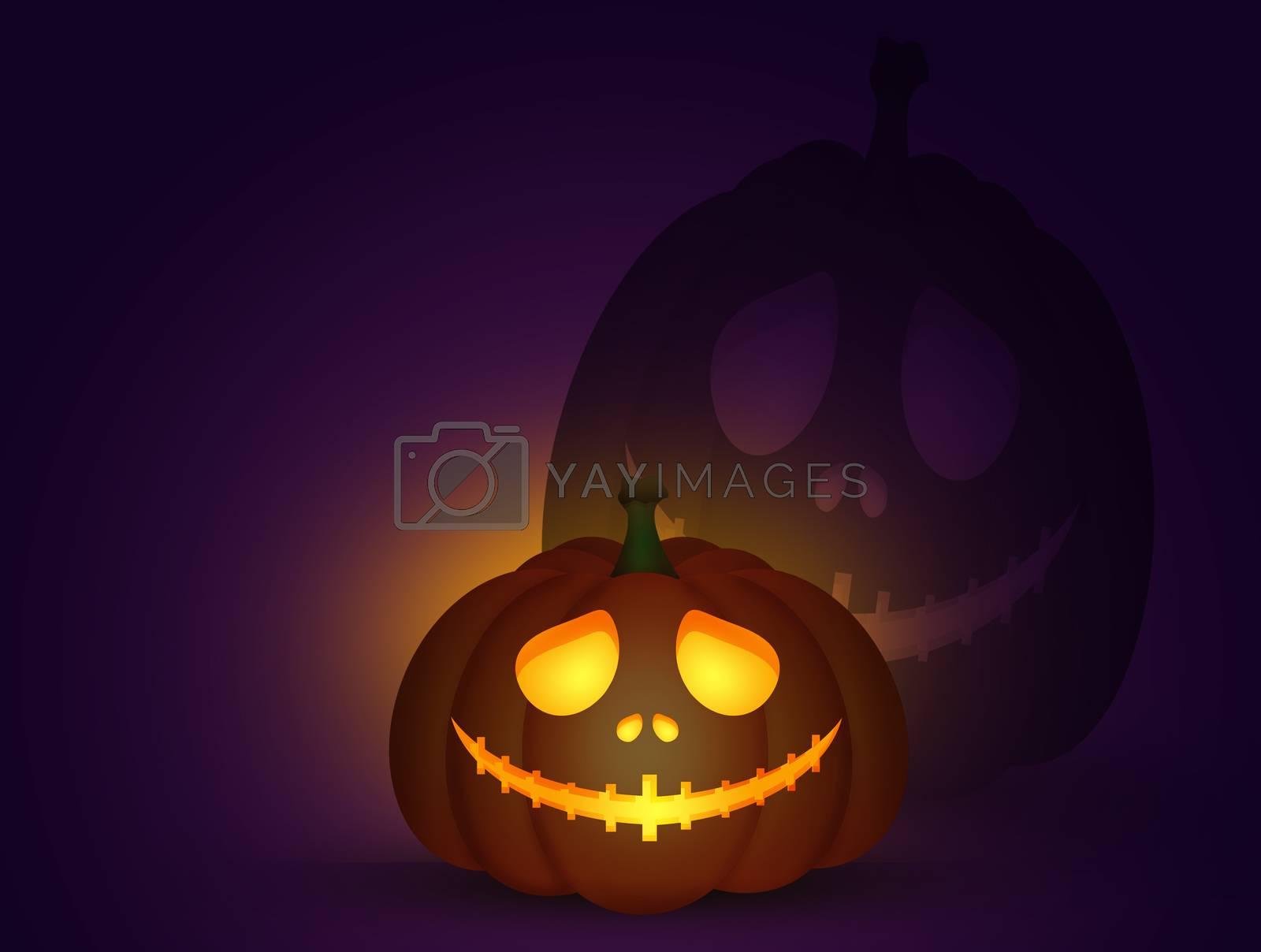 illustration of Halloween pumpkin