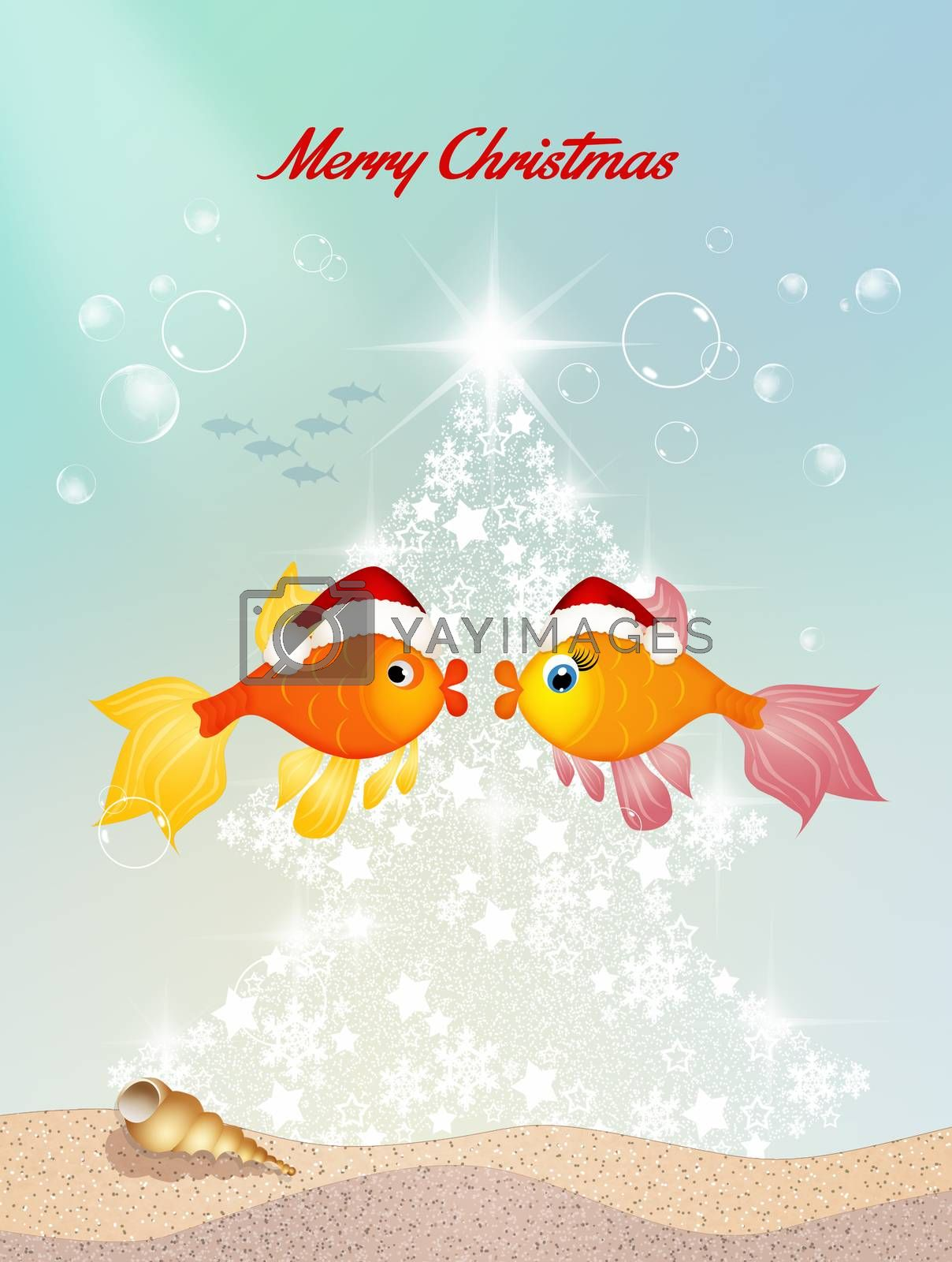 illustration of greeting for Christmas