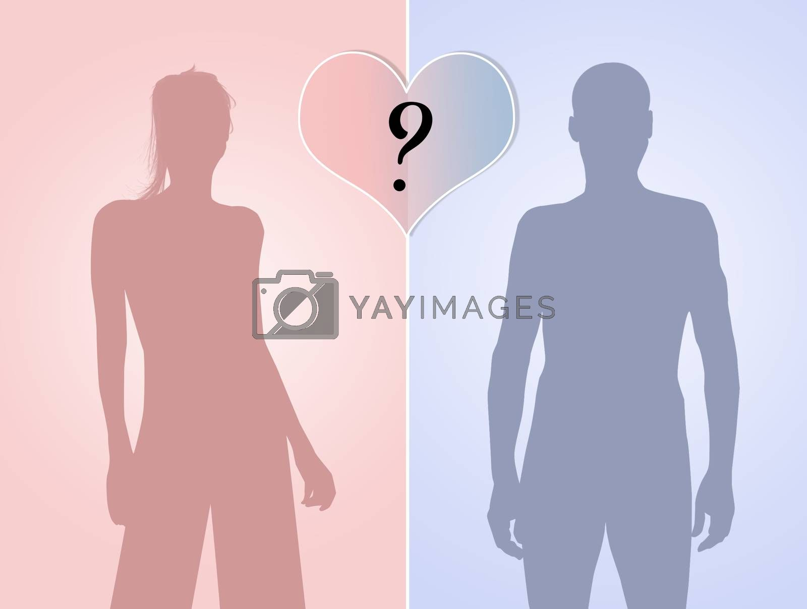 illustration of compatibility between men and women