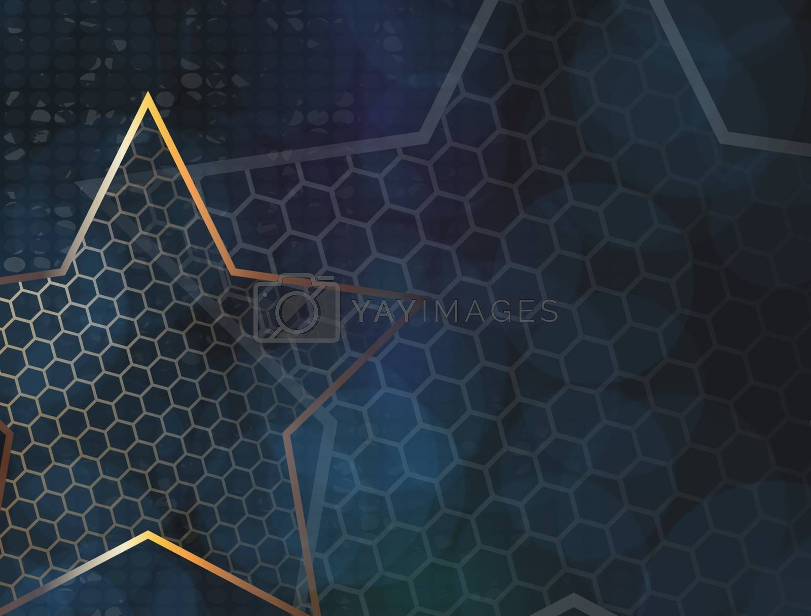 The gold stars for web background design. Modern wallpaper. Dark backdrop. Modern design template with the gold stars on transparent background. Abstract art.