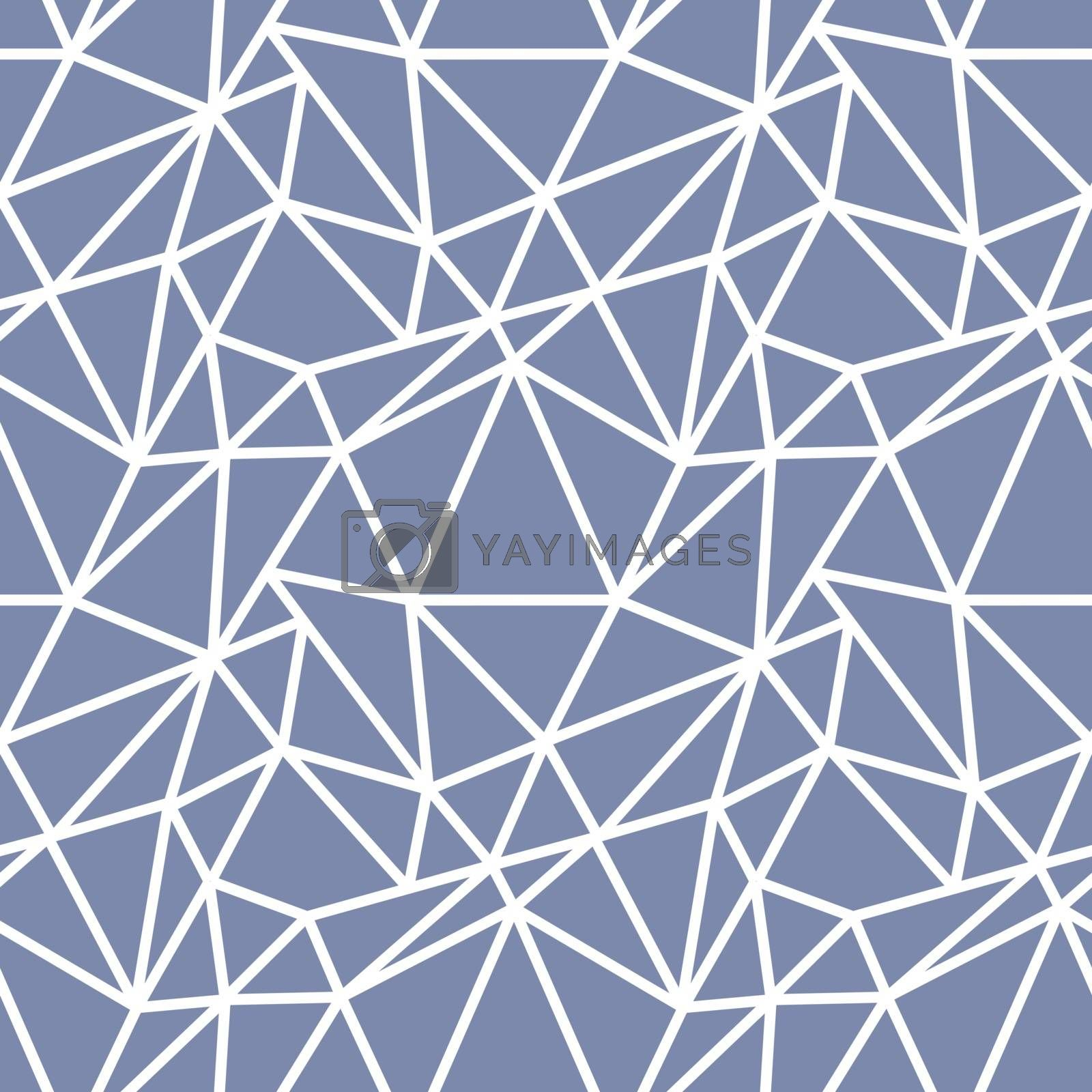 White and light blue seamless pattern with asymmetric chaotic net