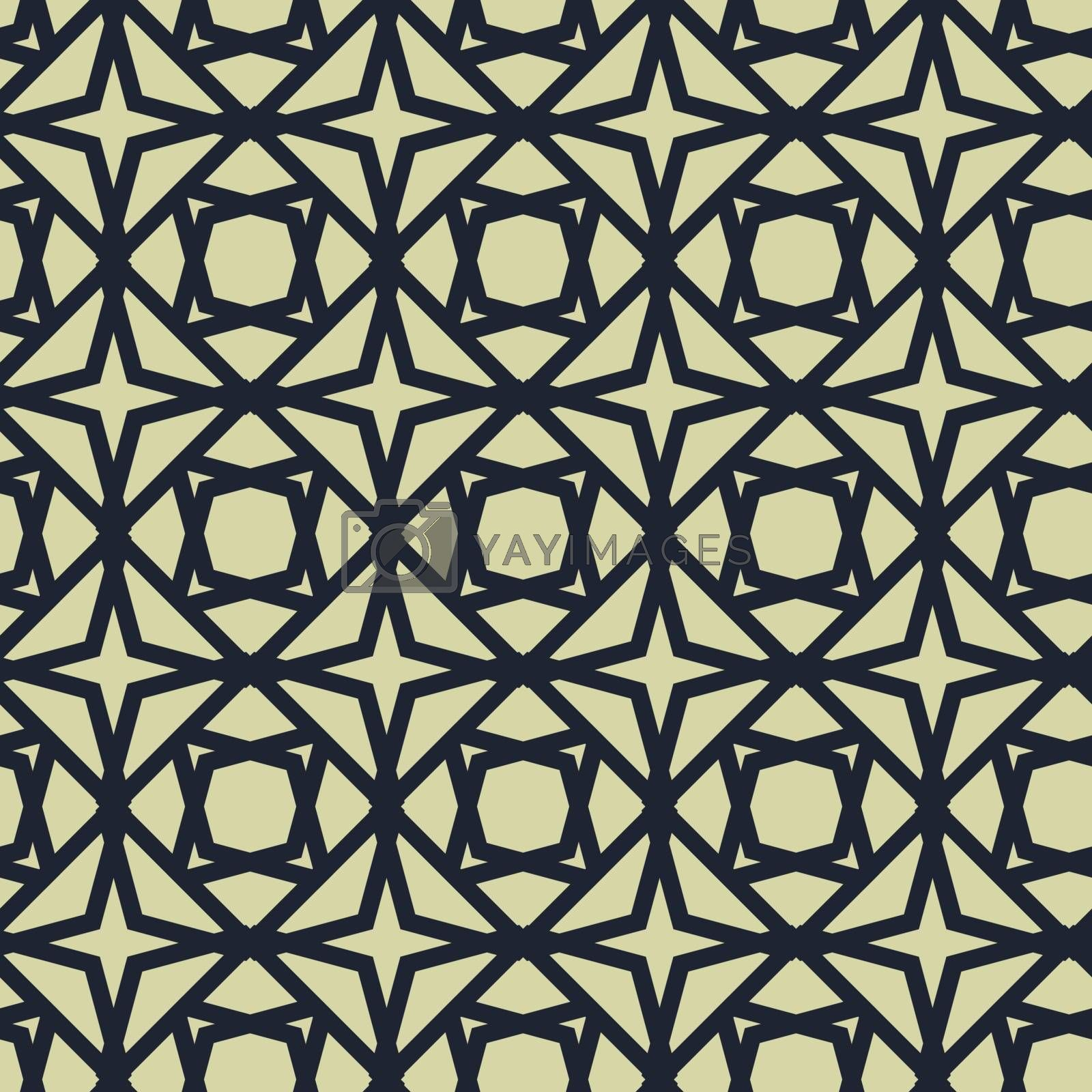 Simple outline geometric seamless pattern or wallpaper in retro style