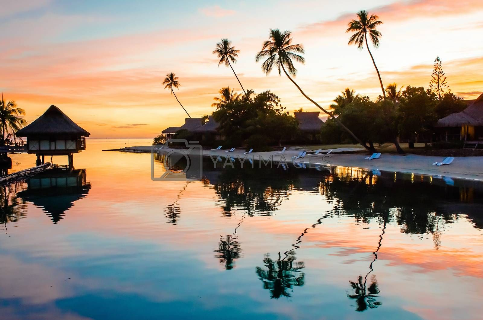 Tropical sunset, French Polynesia by Marco Rubino