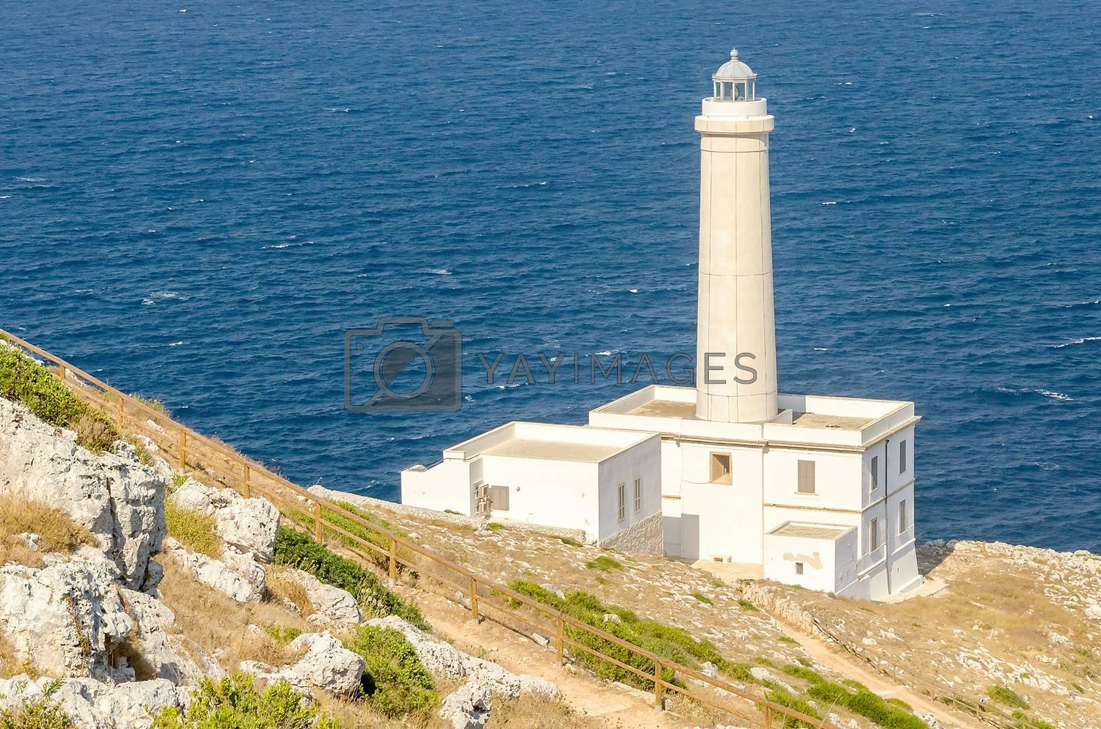 The iconic lighthouse of Capo d'Otranto, Salento, Apulia, Italy by Marco Rubino