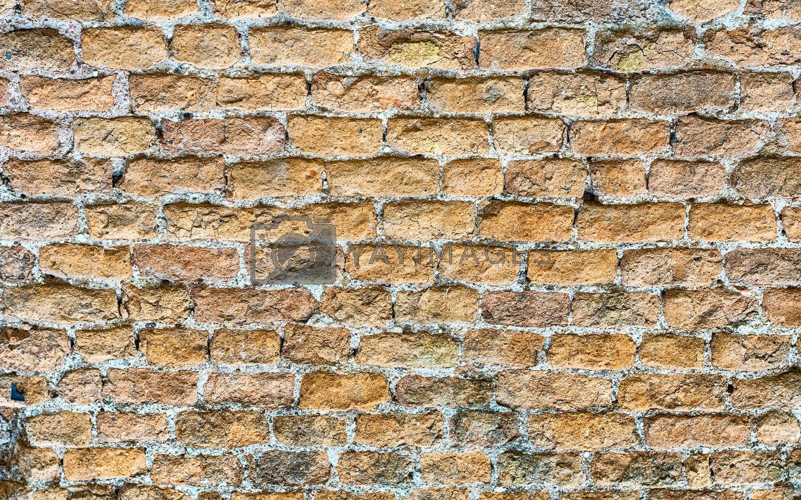 Stone Brick Wall Texture, may be used as background by Marco Rubino