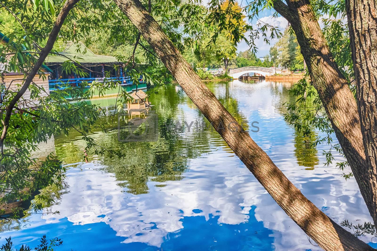 Idillic lake inside Gorky Park, Moscow, Russia by Marco Rubino