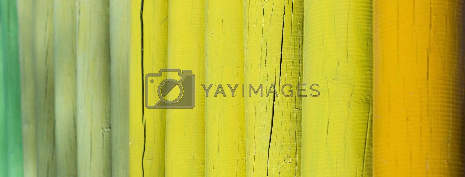 Closeup of a wooden fence with selective focus by Marco Rubino