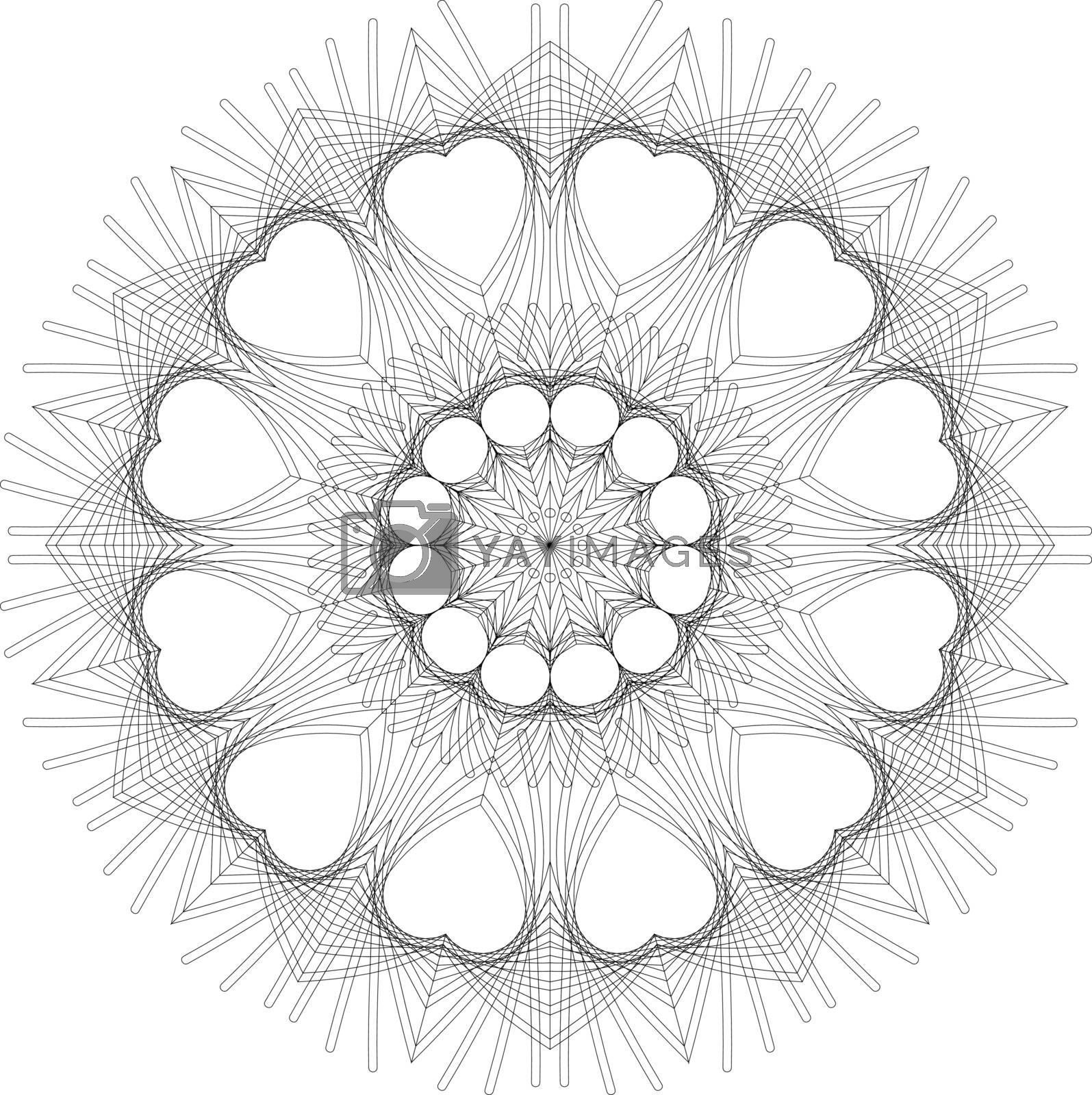 Mandalas for coloring book. Decorative black and white round outline ornament. Unusual flower shape. Oriental vector and anti-stress therapy patterns. Vector yoga logos design element.