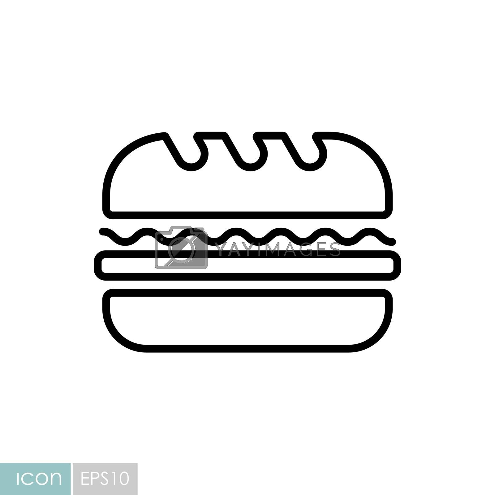 Subway Sandwich vector icon. Fast food sign by nosik