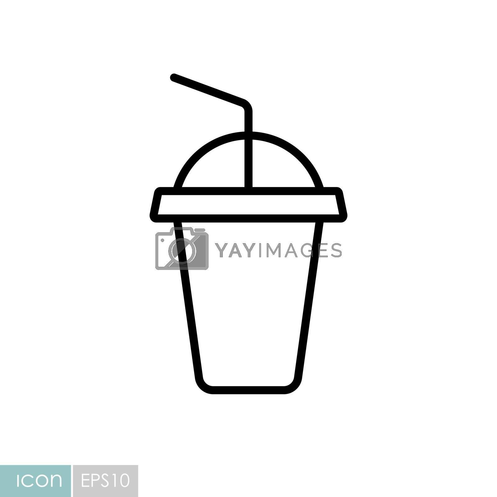 Soft drink vector icon. Fast food sign. Graph symbol for cooking web site and apps design, logo, app, UI