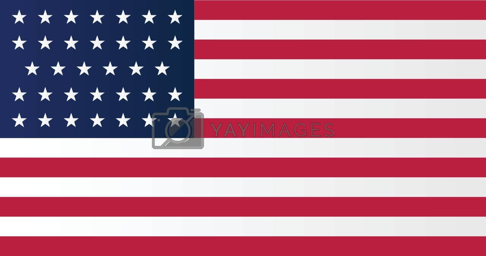 A Union side civil war stars and stripes flag