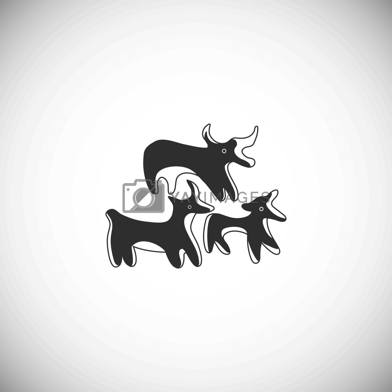 Ancient Greek pottery bulls. Icon of animals. by kantrika